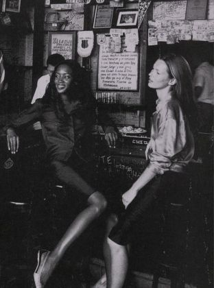 Kate Moss and Naomi Campbell by Patrick Demarchelier, 1998: