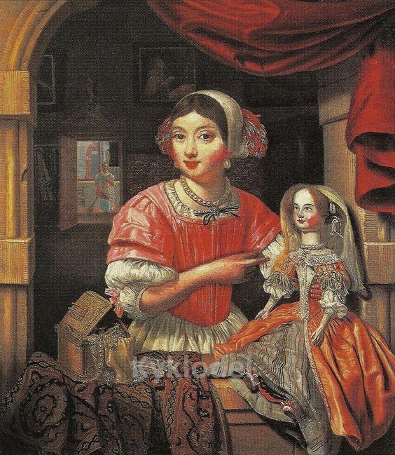 John Collier «Girl with a Doll» середина XVII в.: