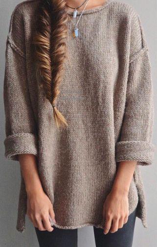 oversized sweater: