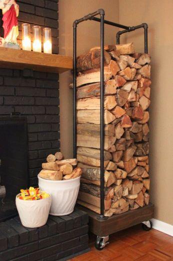 Hout voor de houtkachel