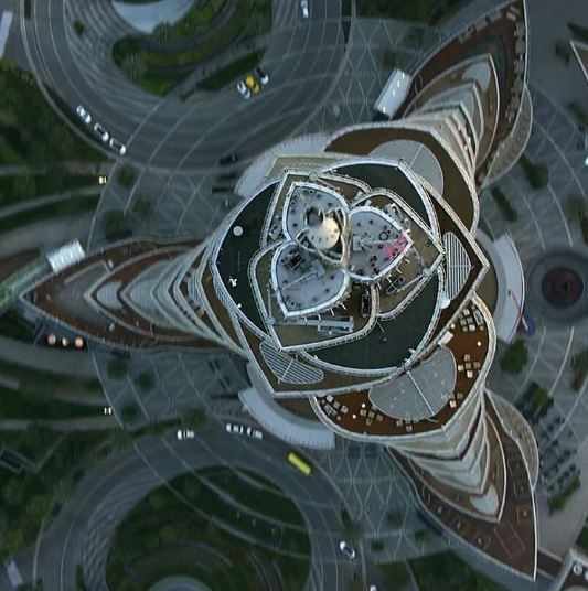 Burj Khalifa from satellite