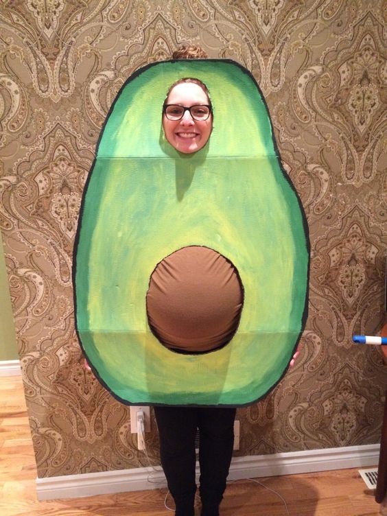 Halloween Pregnancy Costume #8: The Pregnant-Avocado