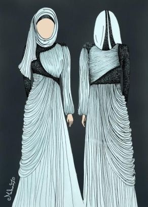 From Silk Route Stylein. This is very elegant! and like Greek statues.