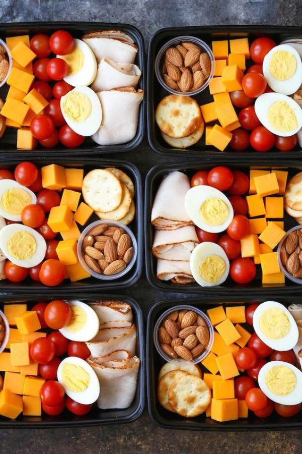 Deli Snack Box - Prep for the week ahead with these healthy, budget-friendly snack boxes! High protein, high fiber and so nutritious!: