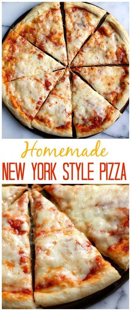 The Best Homemade New York Style Cheese Pizza Recipe via Baker by Nature - Made at home and so easy!