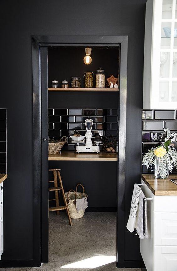 Zwart Wit keuken interieur
