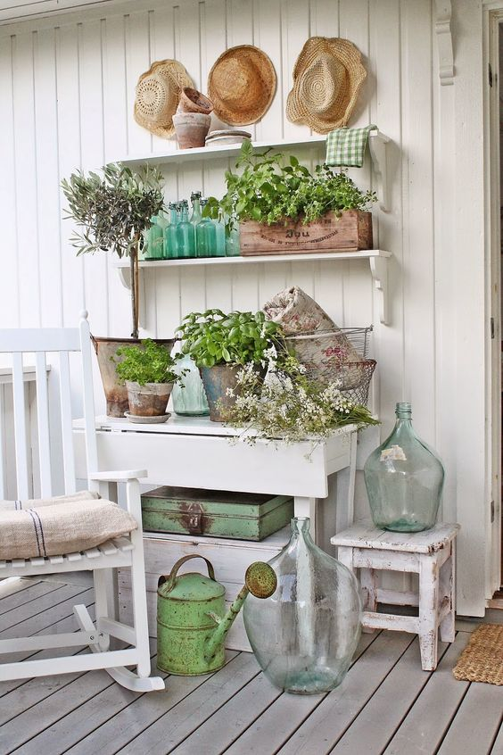 VIBEKE DESIGN - love the shelves teamed up with the little table!: