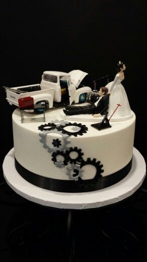 Mechanics Grooms Cake My Cakes Pinterest Groom Cake
