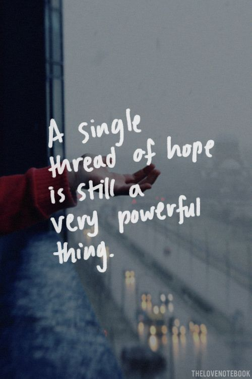 Hope and inspiration: