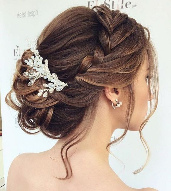 braided Updos Wedding hairstyle #updos #hairstyles #weddinghair: