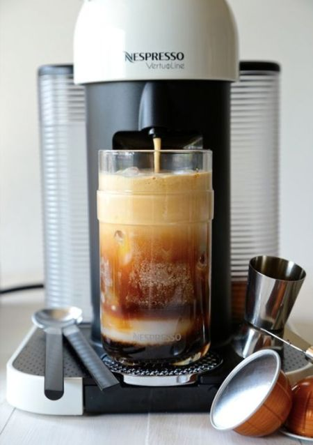 Let your Nespresso espresso machine do the hard work for you when it comes to creating this drink recipe masterpiece. Iced Coconut Caramel Mocha is sure to be a favorite of yours this summer.: