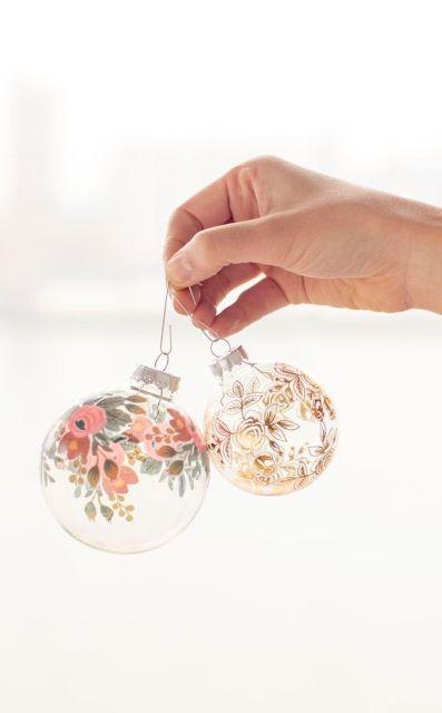DIY: Christmas ornaments using temporary tattoos: