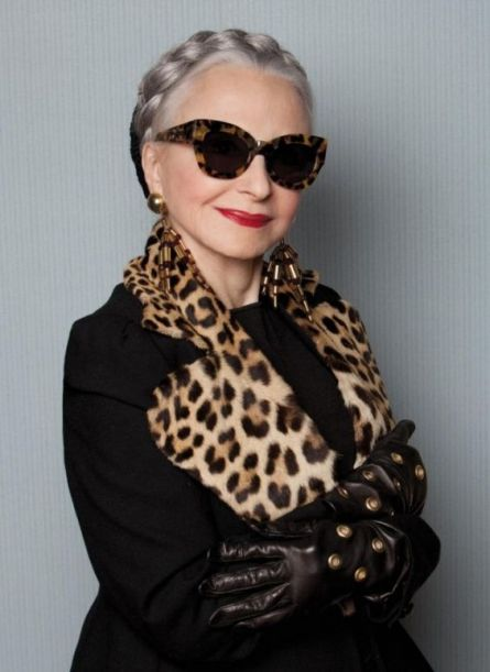 Karen Walker Enlists Stylish Seniors Top Model simply beautiful at 79:
