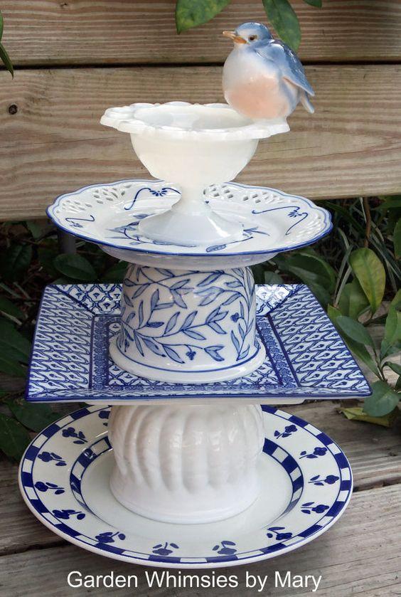 bluebird garden totem
