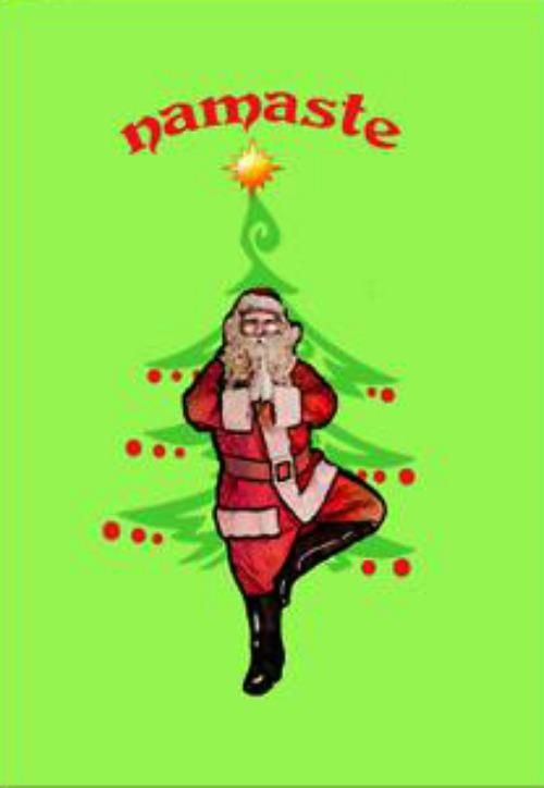 Santa Tree Pose Greeting Cards Trees Greeting Card And