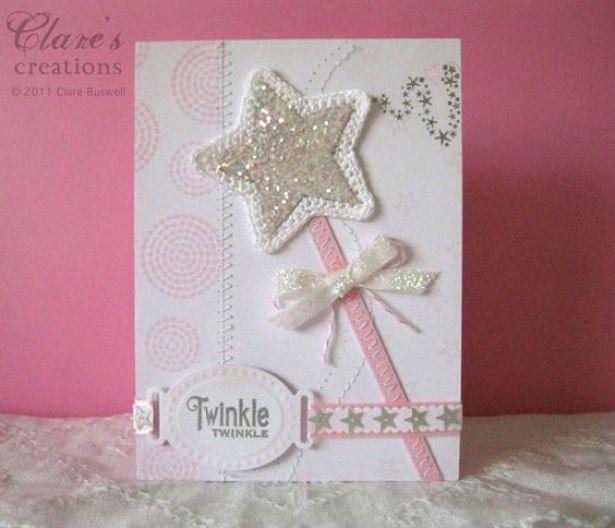 cute little girls card: