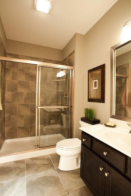 Clean and modern bathroom inside the new custom model home ... on Model Bathroom Ideas  id=94512