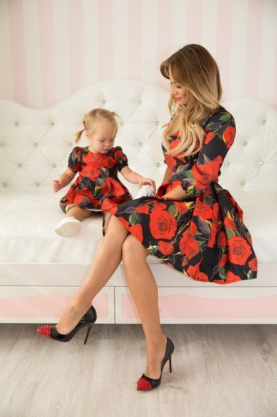 Rose - matching dresses, floral mother and me dresses, family outfits, mother and daughter dresses, child, girl dress, family look: