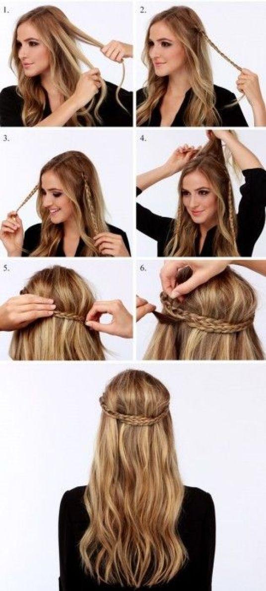 tutorial para peinado rapido y facil trenza y cabellos suelto bohemio
