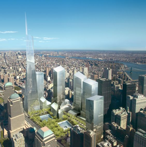 A render of Daniel Libeskind's Freedom Tower