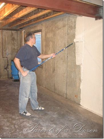 parents of a dozen painting an unfinished basement on paint for basement walls id=32511