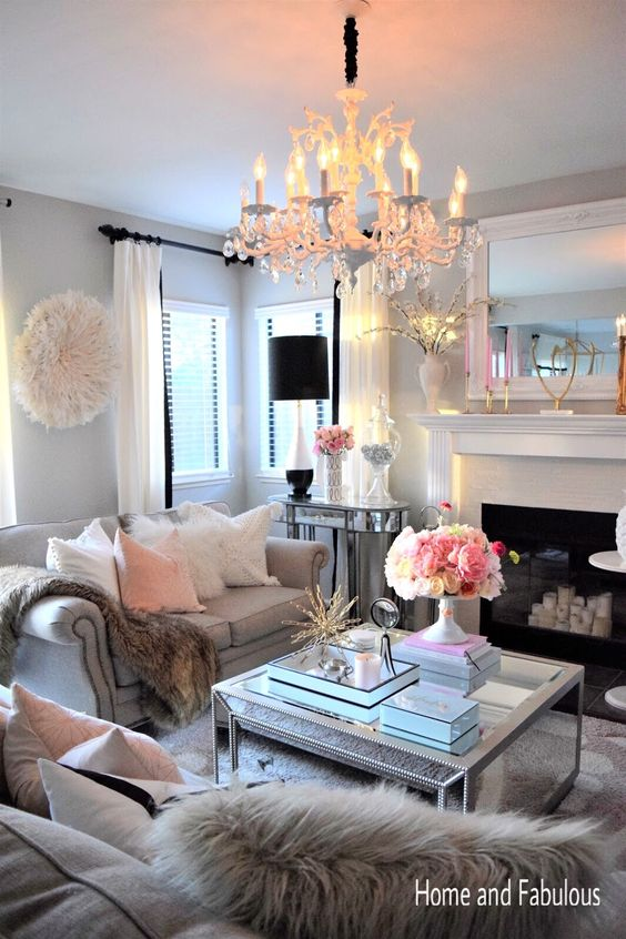 This mirrored table from Home Goods is just the right amount of girly and elegant. The details make it that much more unique and darling!  (Sponsored pin)