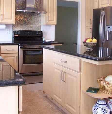 granite countertops with light maple cabinets   Light ... on Light Maple Kitchen Cabinets With Granite Countertops  id=41539