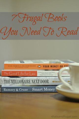 Looking to start living frugally? Here's a list of the 7 frugal books you need to read when you get started on your new life.: