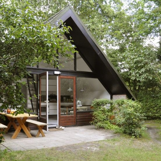 The mid century a frame modern tiny house for Mid century modern tiny house