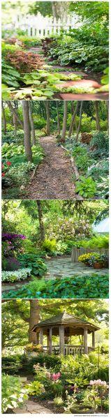 shade garden path ideas Shade Garden Ideas | Gardens, Beautiful and Beautiful gardens