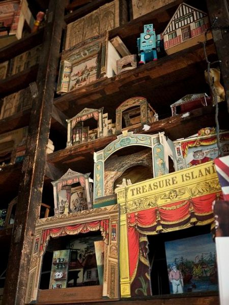 Toy theatres at Pollock's Toy Museum. P&P: the traditional toy theatres may need to be brought back. The Crow Press can help with this, I am sure.: