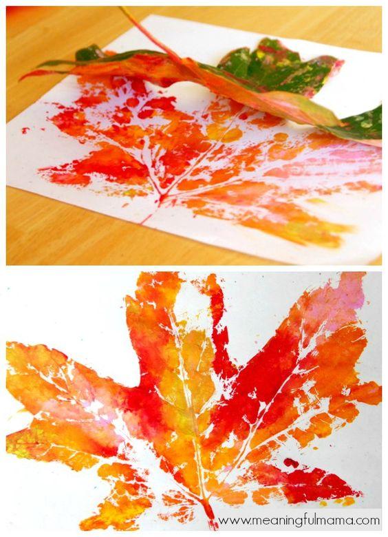 Leaf Prints - Fall Craft for Kids:
