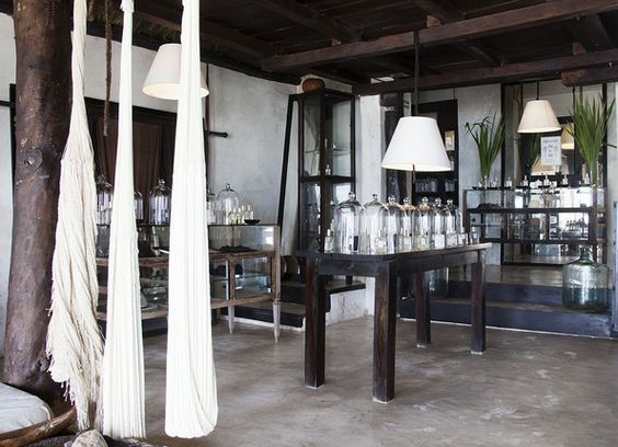Tulum - The perfumery in the lobby at Coqui Coqui in Tulum, Mexico.:
