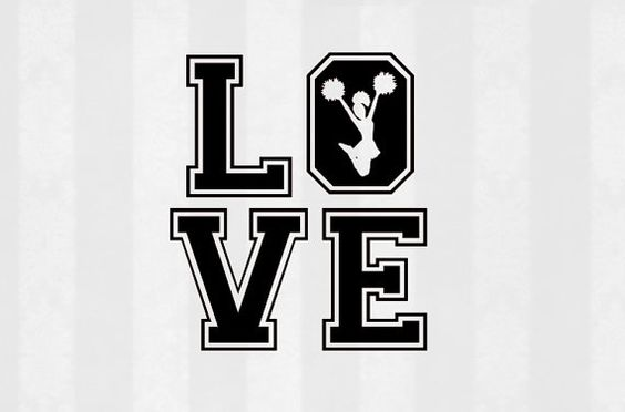 Download Cheer LOVE SVG, Cheer SVG, Cheerleading Digital Download ...