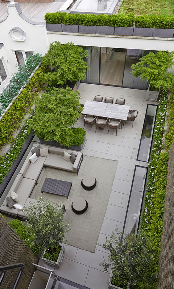 rooftop entertaining area …: