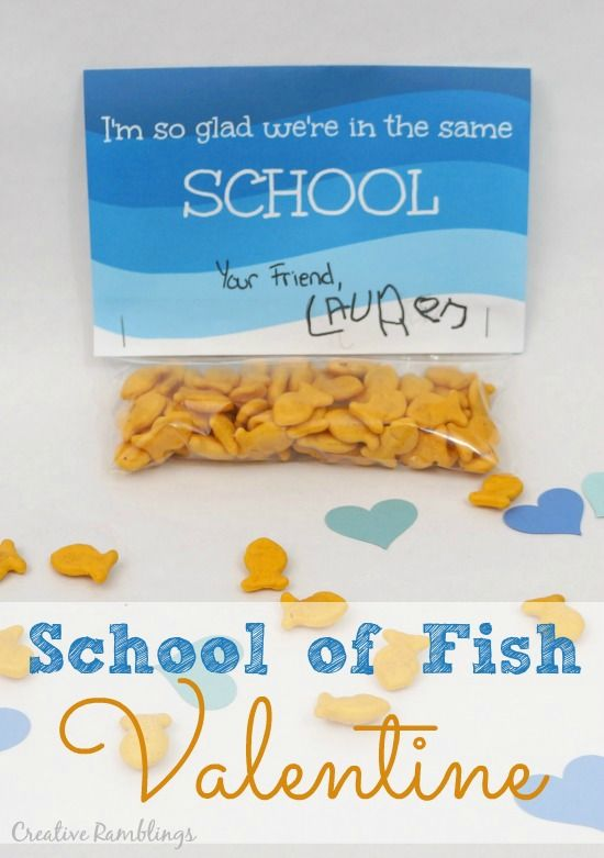 Goldfish Cracker Valentine With Free Printable Guest Post