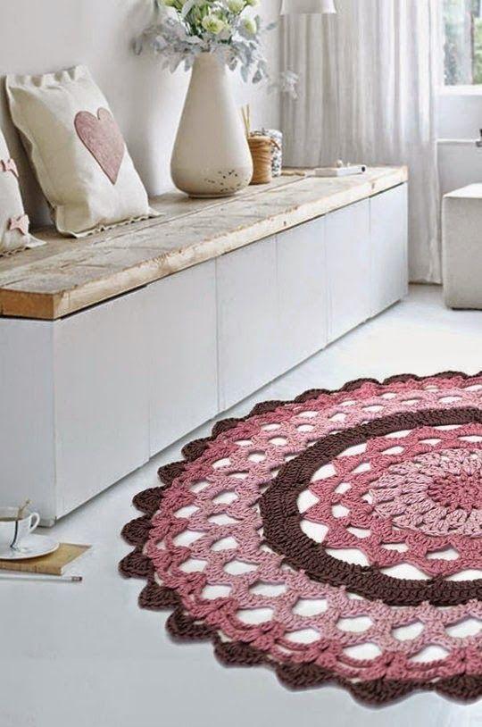 blog de decoração - Arquitrecos: Tapetes de crochet arrasando na decoração!: