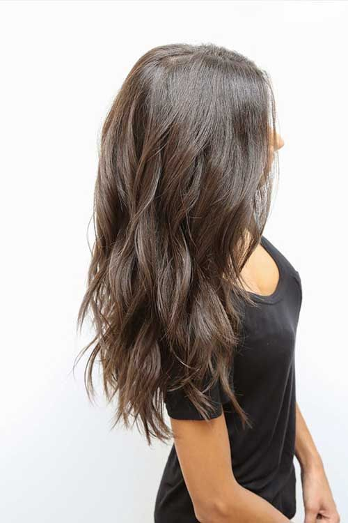 Thick  Long  Hair  with Choppy Cuts Hairs Pinterest