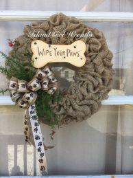 Pet Inspired Burlap Wreath