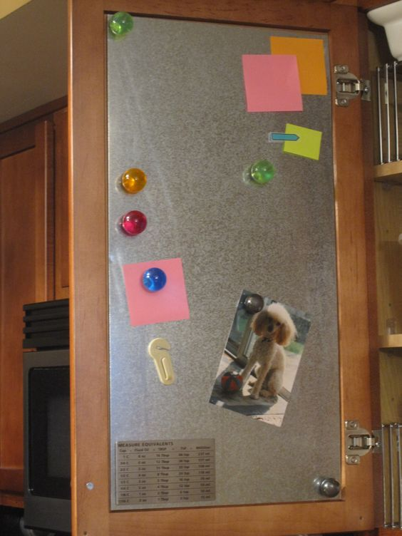 sheet metal in cabinets hold magnets and minimize fridge on brilliant kitchen cabinet organization and tips ideas more space discover things quicker id=37878