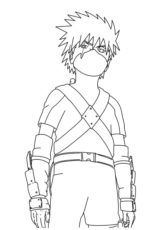 kakashi naruto and coloring pages on pinterest
