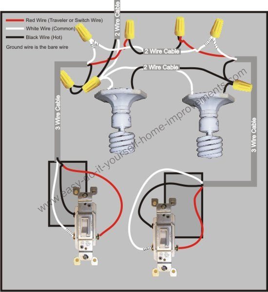 wiring diagram 3 way light switch in middle  12 24 volt