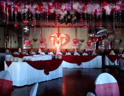 Purple Wedding Streaming Ceiling Ideas Wedding Venue