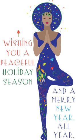 Yoga Christmas card on etsy.  http://www.walkingsatellite.etsy.com: