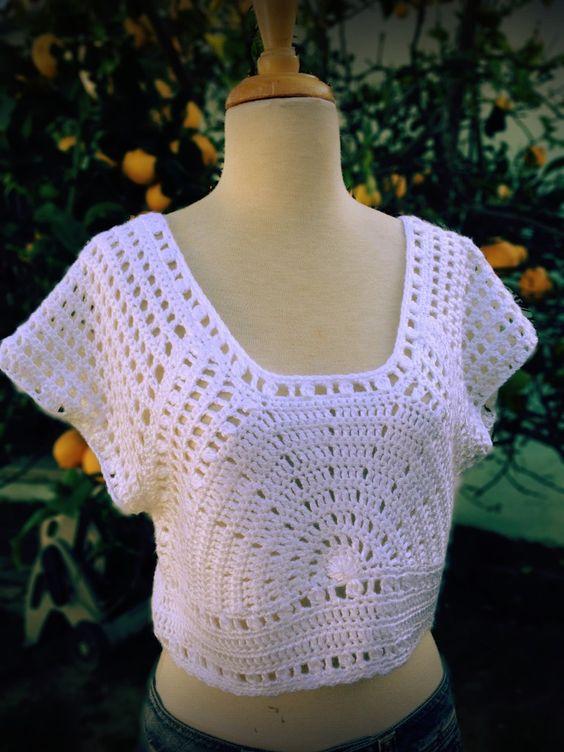 Lazy Days Of Summer Top - Free Crochet Pattern - See http://www.knitandcrochetnow.com/wp-content/uploads/2012/10/2-204-crochetlazydaze_pattern.pdf For PDF Link - (positivelylace):