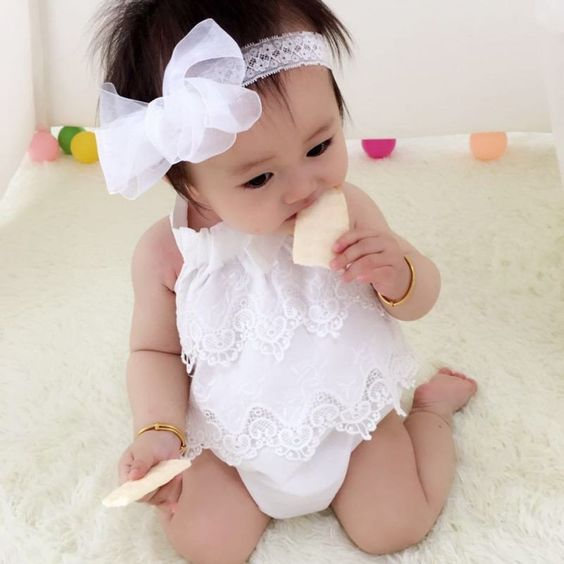 Newborn Clothing 2016 Baby Girl Cute Bodysuits Lace Outfits: