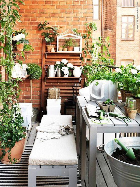 apartman balkon bahçe ilham