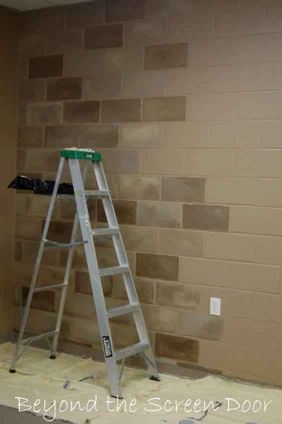 basement walls painting concrete block diy ideas on concrete basement wall paint colors id=26655