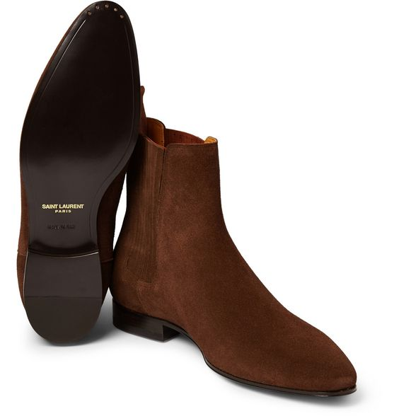 Saint Laurent - Suede Chelsea Boots | MR PORTER: