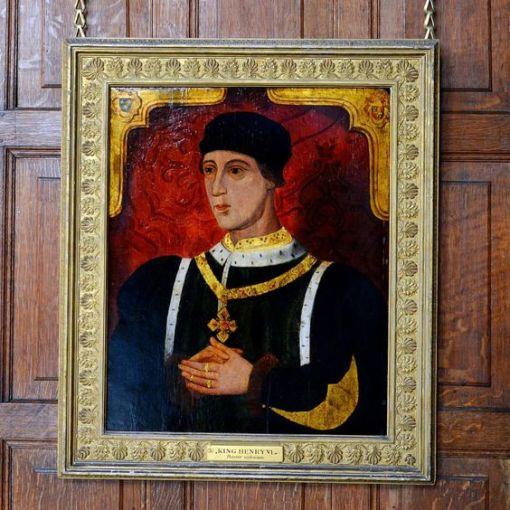 King Henry VI of England (1421-murdered 1471 in the Tower of London) by an unknown painter in the Marble Hall: